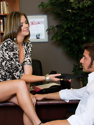 Sierra Sanders can use some help in her office and Billy Hart is just the man for the job.